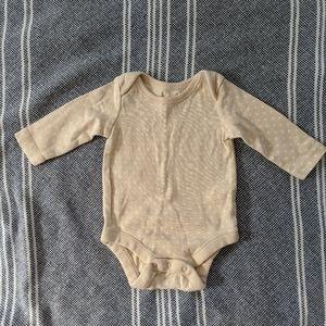 Baby Gap Beige NB Onesie